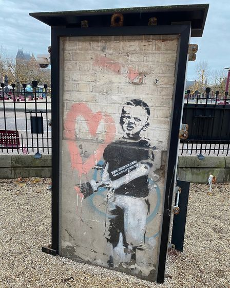 Heart Boy by Banksy. Works by contemporary artists like Banksy Tracy Emin and The Connor Brothers fe