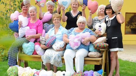 Blundeston Women's Institute group have made numerous comfort cushions which have been presented to