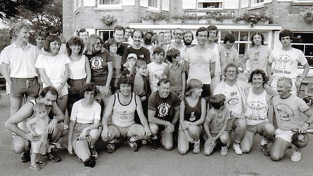 An archive photo of the Norfolk Hash House Harriers.