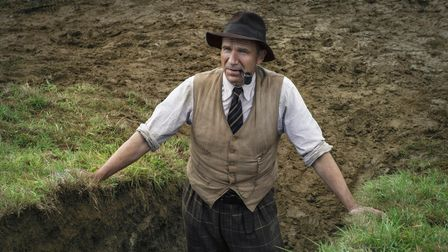 Ralph Fiennes as Basil Brown in The Dig Picture: LARRY HORRICKS/NETFLIX