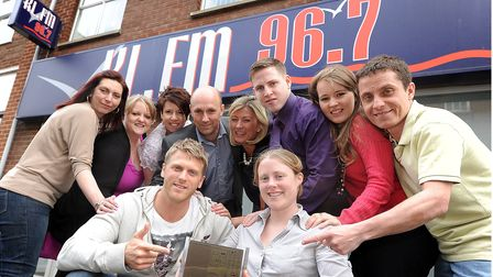 Staff at KLFM are all smiles after winning a Sony Award for Best Radio Station for their size. Pictu