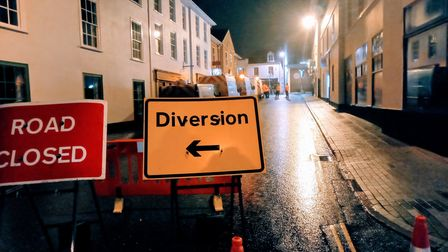 Tom Murray has been tweeting about the water leak in Bury St Edmunds town centre that has been going on for three weeks.
