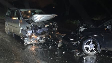 An NHS worker was seriously injured in afour carpile-up on the A142 on Monday (January 11).
