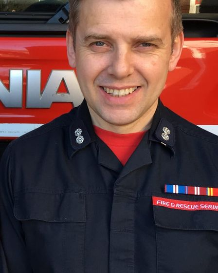 Chris Harding-Hook, red watch manager at Sprowston fire station.