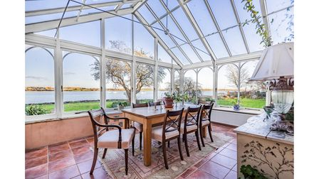 Portishead House has two conservatories with uninterrupted views of the River Stour