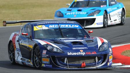 The British Touring Car Championship weekend at Snetterton. Carl Breeze from King's Lynn in the Gine