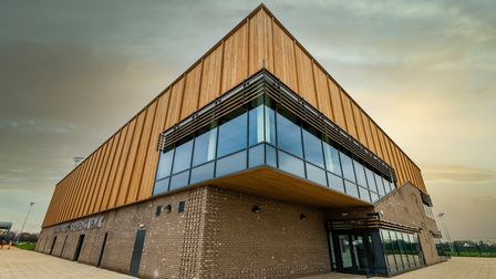 The sports hub at the Colchester Northern Gateway Sports Park