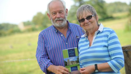 Dudley Stammers and Rachael West with The Little Book of Larling.Picture by: Sonya Duncan