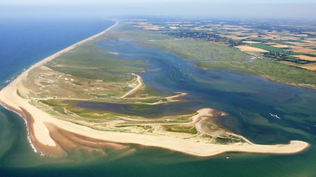 An aerial view of Blakeney Point. Picture: NATIONAL TRUST