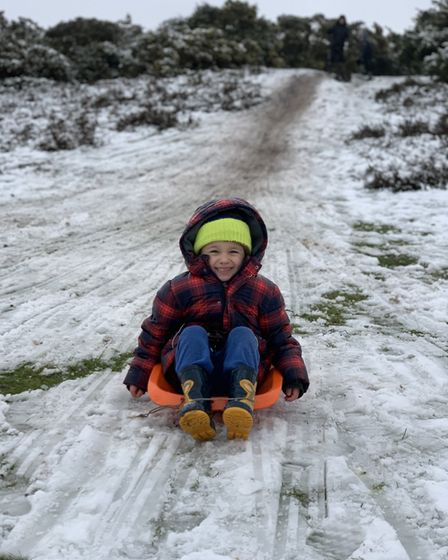 Sledging on Rushmere golf course