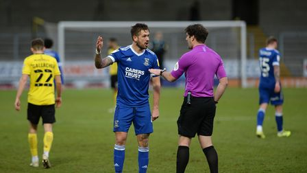 Luke Chambers can't believe he's being booked at Burton Albion. Picture Pagepix Ltd