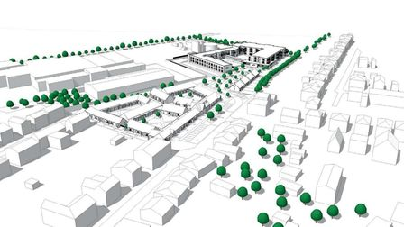 Artist's impression of the proposed retirement complex at Histon