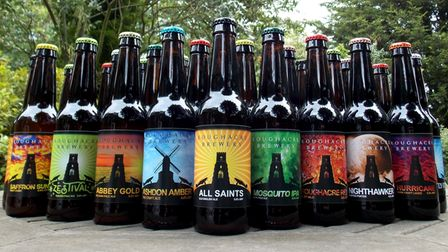 Beers produced by Roughacre Brewery, which has relocated to Clare Hall Barns