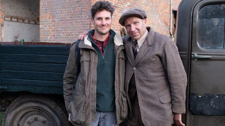 Jay Ducker and Ralph Fiennes
