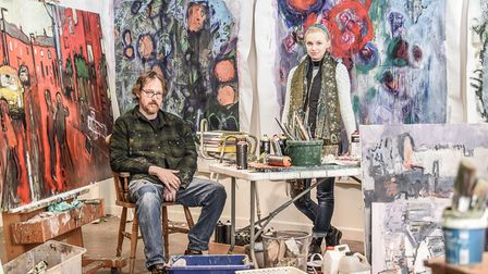 Martin Kinnear and Bryony Reed of Norfolk Painting School