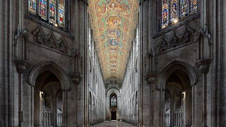 This is a picture of Ely Cathedral's nave.