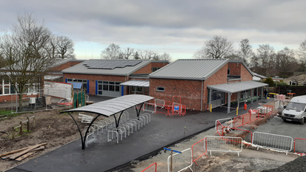 The new eight classroom block at Hethersett CE VC Primary School.