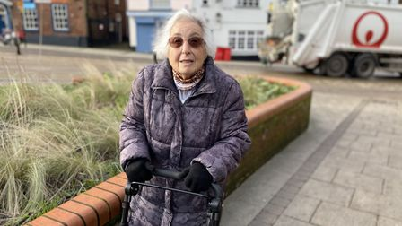 Joyce Blythe, 83, who has had the vaccine, was out for her daily walk around Norwich city centre.