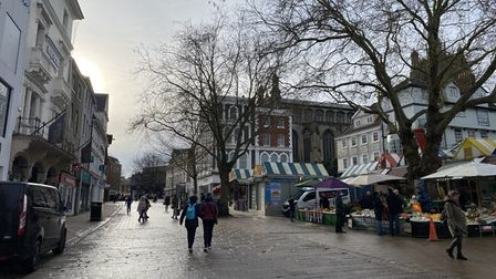 Norwich City Centre on January 18, 2021, during the third national lockdown.
