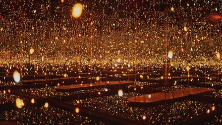 Infinity mirror room Fireflies on the Water. Pic: Yayoi Kusama/cnap/Musee des Beaux Arts Metropole R