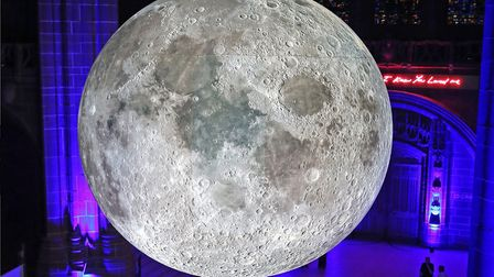 Luke Jerram's Museum of the Moon will be placed in Lille's railway station. Pic: Gareth Jones