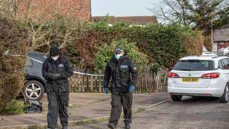 Police have launched a murder investigation in Laing Road, Colchester, after a woman in her 20s was found dead.
