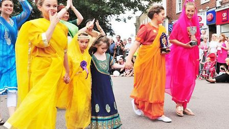 Action from last year's Beccles Carnival parade