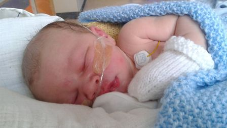 Felix Burgess at the Norfolk and Norwich University Hospital neonatal intensive care unit.
