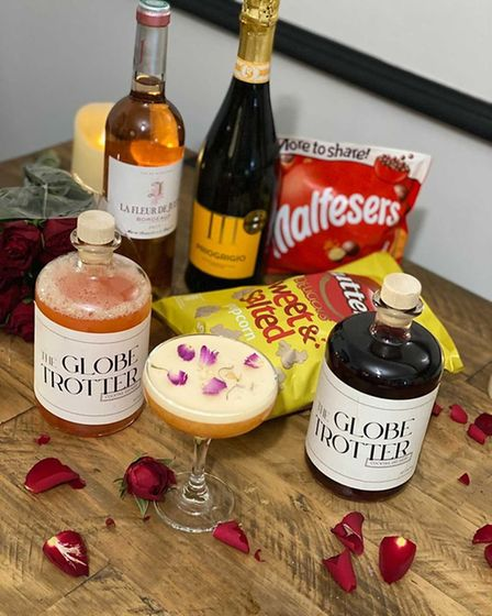An example of the Valentine's offering from Globe Trotter Bar.