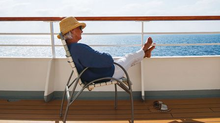 woman on holiday on cruise line