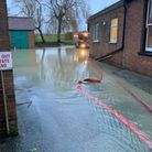Flooding in Long Stratton on January 19, 2021.