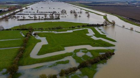 Heavy rainfall has highlighted the lines of an English Civil War fort.