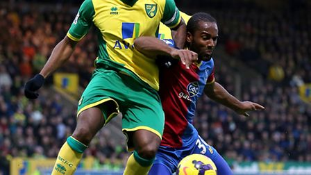 Norwich City's Sebastien Bassong will not be involved against Bournemouth in the Championship. Pictu