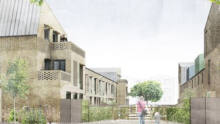 An artist's impression of the 13m housing development which could be built on the former Greyhound O