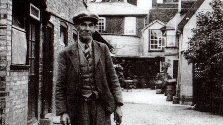 Basil Brown in his home village of Rickinghall, close to the Suffolk/Norfolk border