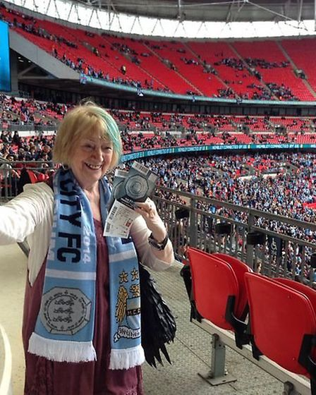 Margarita Robertson's trip to Wembley. At Wembley.: Submitted pictures