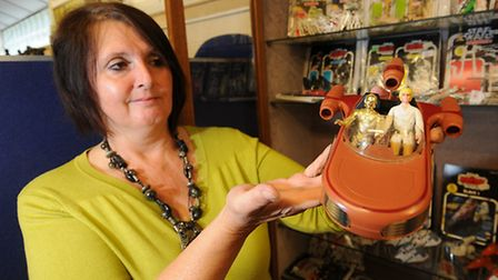 1970s Star Wars merchandise up for auction at Keys Auctioneers. Valuer Jill Holliday.Picture: ANTONY
