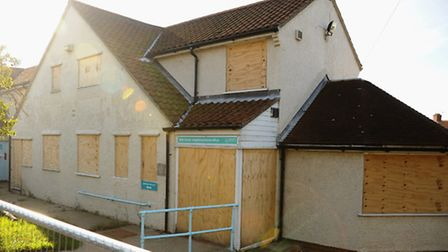 The boarded up city council neighbourhood office at Hansard Close. Picture: Denise Bradley