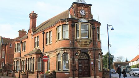 Sheringham's historic town hall, which is going on the market after the town council relocated to th