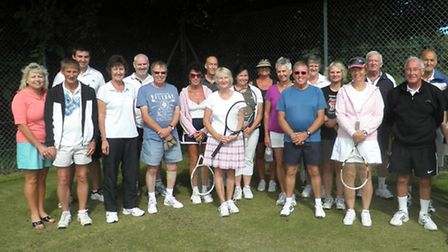 The competitors of a charity tournament in aid of Disability Tennis at West Norfolk Lawn Tennis Club