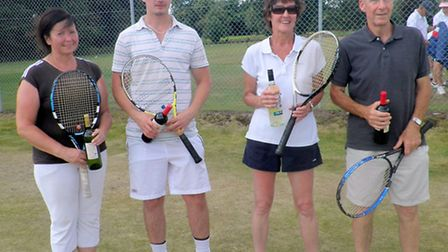 The winners of a charity tournament in aid of Disability Tennis at West Norfolk Lawn Tennis Club in