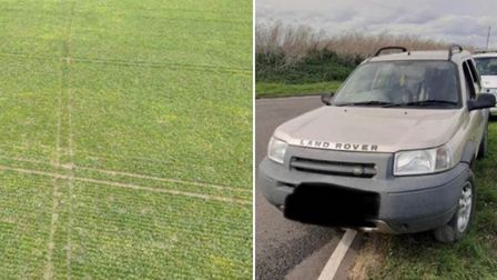 Hare coursers car and field damage