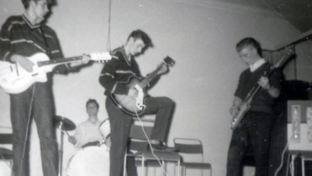 Ronnie Dearing (on left) with the Midnights, pictured around 1962.