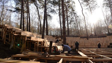 A theatre in the forest is being built in Thorington Picture: CHARLOTTE BOND