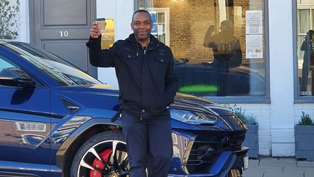 Former Top Gear presenter Rory Reid was spotted filming in Chatteris today (January 22) with a £160,000 Lamborghini Urus.
