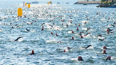 Swimmers in the Ironman event in Kalmar, Sweden. Pictures: Richard Lee