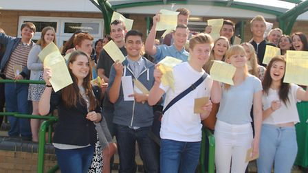 Springwood High School pupils celebrate their results