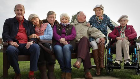 The cast of Boomers, which was filmed in Kent.