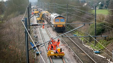 Engineering work on the Norwich to London line which overran on Monday has prompted Colchester MP Si