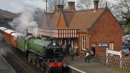 The Mayflower steam loco at Weybourne station. It is guesting as one of the stars of the North Norfo